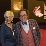 Anita Lissona e Philippe Daverio davanti al palco di Best Brands