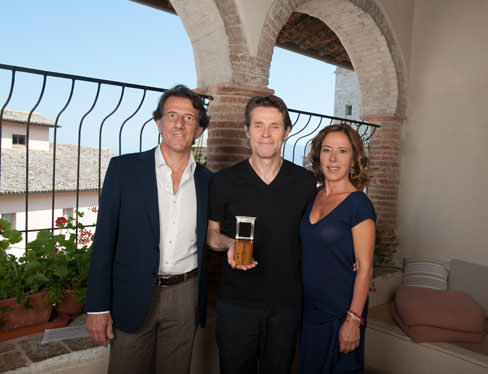 Zefferino Monini Willem Dafoe e Maria Flora Monini